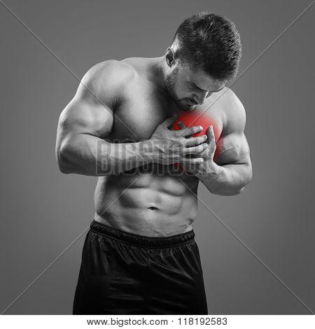 Bodybuilder Chest pain