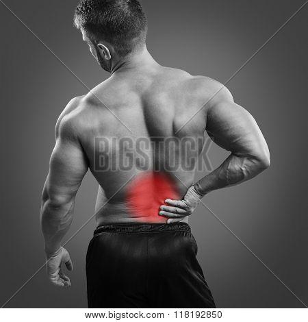 Bodybuilder Back pain