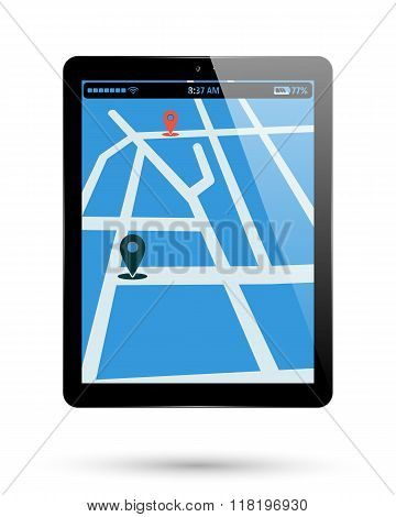 Tablet Map Location
