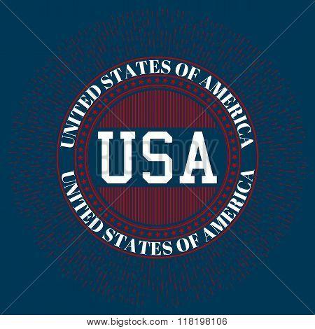 Stock vector logo USA