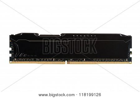 Modern Ram Memory Module With Black Radiator