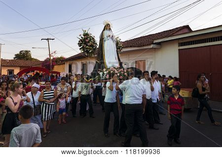 Easter celebrations in Leon, Nicaragua