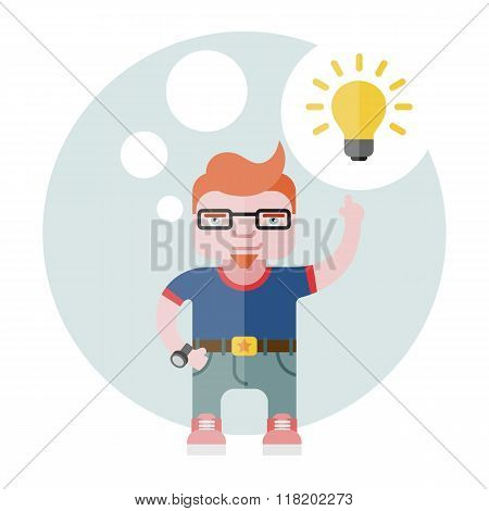 Designer With A Bulb