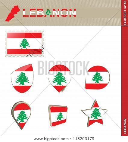 Lebanon Flag Set, Flag Set #142
