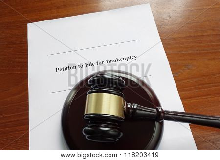 Bankruptcy Document And Gavel