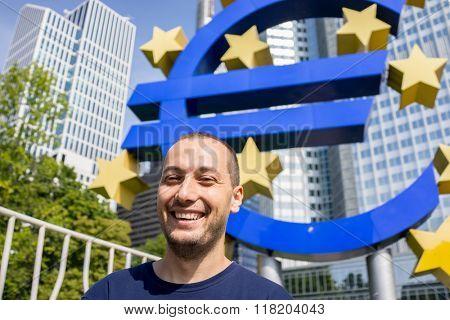 Euro symbol in Frankfurt