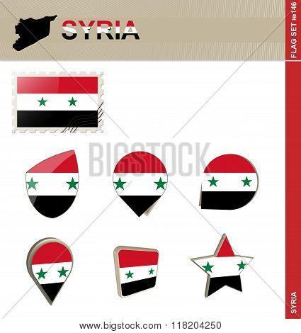 Syria Flag Set, Flag Set #146