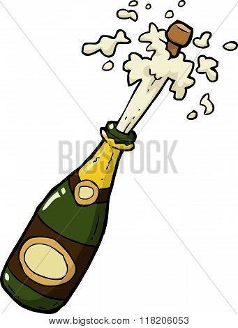 Champagne Bottle Shot
