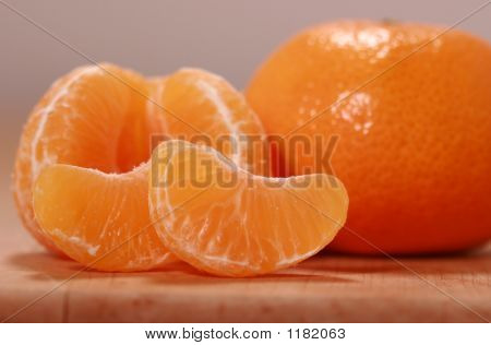 Close Up Of Orange Fruit And Segments