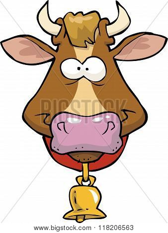 Cartoon Cow Head