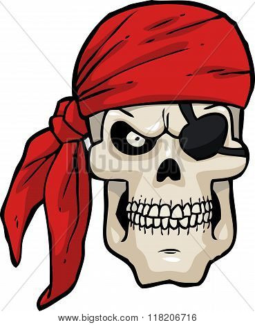Cartoon Pirate Skull