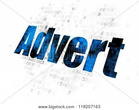 Marketing concept: Advert on Digital background