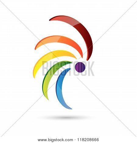 Abstract Icon Spiral Multi Color