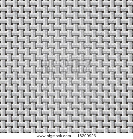 Seamless background weaving ribbed metal wire.