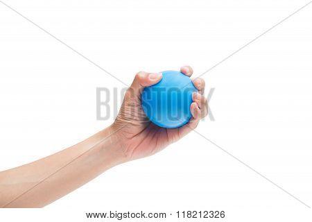 Hands Of A Woman Holding A Stress Ball