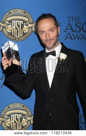 LOS ANGELES - FEB 14:  Emmanuel Lubezki at the 2016 American Society of Cinematographers Awards at the Century Plaza Hotel on February 14, 2016 in Century City, CA