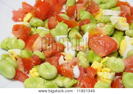 Broad Beans Salad