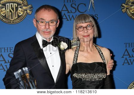 LOS ANGELES - FEB 14:  John Toll, Lois Burwell at the 2016 American Society of Cinematographers Awards at the Century Plaza Hotel on February 14, 2016 in Century City, CA