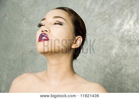 Beautiful sexy glamor girl