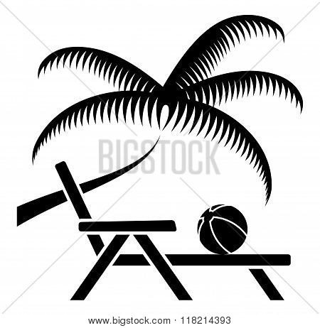 Palm Tree And Deck Chair