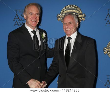 LOS ANGELES - FEB 14:  Richard Crudo, Grover Crisp at the 2016 American Society of Cinematographers Awards at the Century Plaza Hotel on February 14, 2016 in Century City, CA