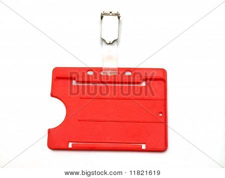 Red Id Card Case