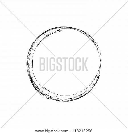 Circle grunge ink spot vector background