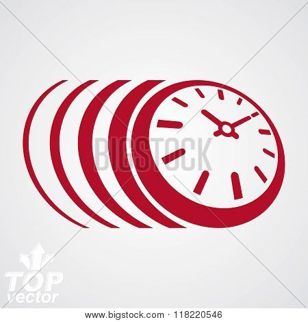 3D Vector Timer, Eps 8 Clear Vector Illustration. Time Runs Fast Conceptual Graphic Design Element.