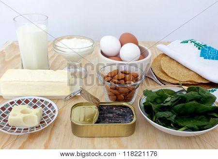 Food rich in calcium