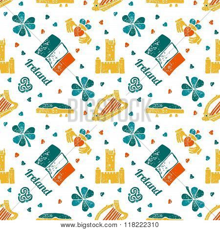 Ireland seamless pattern