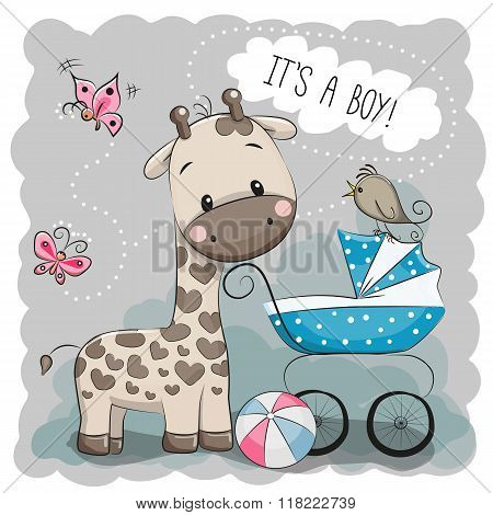Baby Carriage And Giraffe