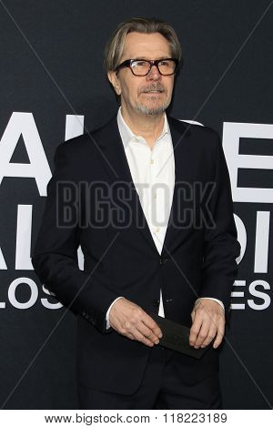LOS ANGELES - FEB 10:  Gary Oldman at the SAINT LAURENT At The Palladium at the Hollywood Palladium on February 10, 2016 in Los Angeles, CA