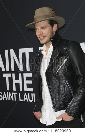 LOS ANGELES - FEB 10:  Dominic Sherwood at the SAINT LAURENT At The Palladium at the Hollywood Palladium on February 10, 2016 in Los Angeles, CA