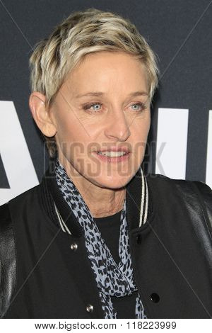 LOS ANGELES - FEB 10:  Ellen DeGeneres at the SAINT LAURENT At The Palladium at the Hollywood Palladium on February 10, 2016 in Los Angeles, CA