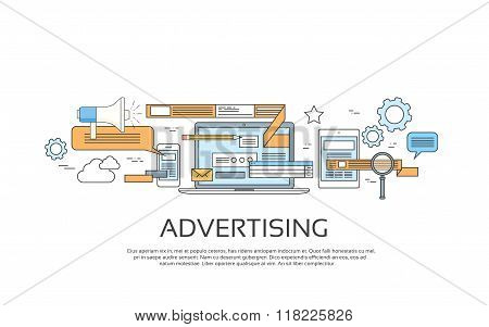 Advertising Online Web Banner Concept Internet Technology
