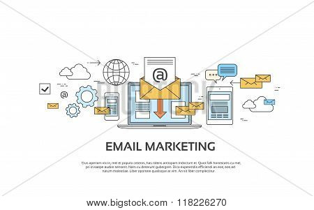 Marketing Email Laptop Envelope Send Business Mail Device Entertainment