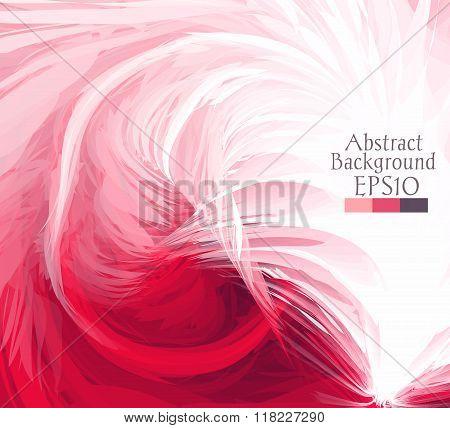 Macro Feathers. Pink, White.
