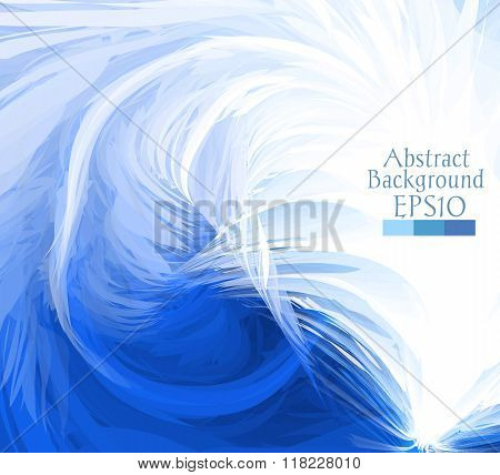 Macro Feathers. White, Blue.