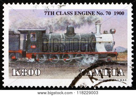 Postage Stamp Zambia 1999 Locomotive