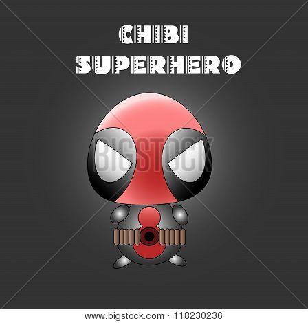Superhero In Chibi Style