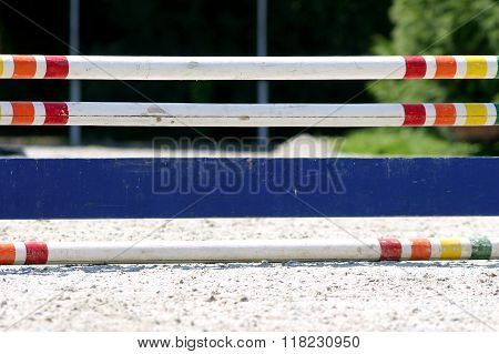 Hurdle At A Horse Race Track