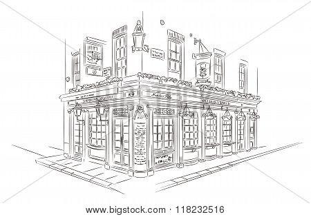 London Pub Sketch