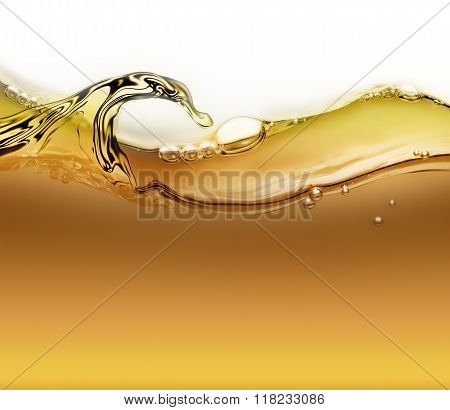 Wave Of Oil With Air Bubbles
