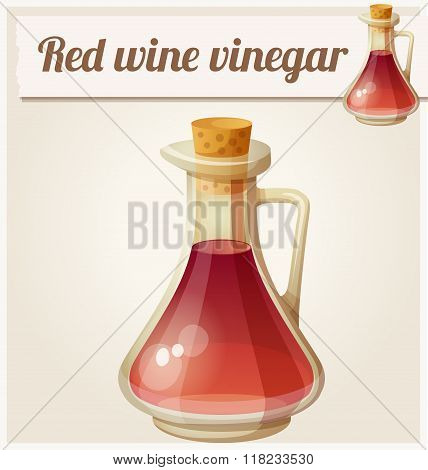 Red wine vinegar. Detailed Vector Icon