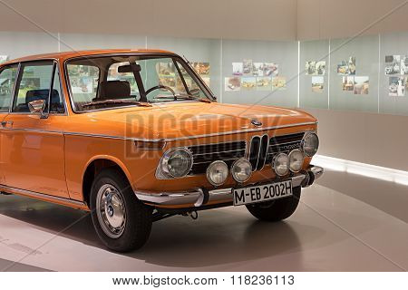 Munich, Germany - August 2014; Bmw Car On Display In Bmw Museum.
