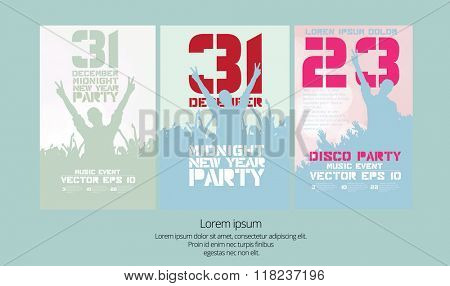 Night party, backround for poster vector