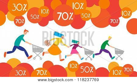 Family Shopping Run Trolley Sale Discount