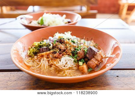 Noodle With Spicy Pork Sup