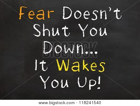 Fear Doesn't Shut You Down...It Wakes You Up