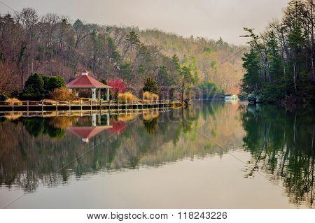 Beautiful Landscape Near Lake Lure North Carolina
